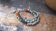 Yoga Bracelet Hamsa Bracelet Mala Bracelet  Shanti by MettaMala, $49.37
