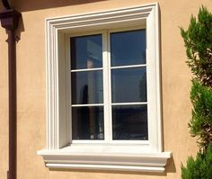 Exterior window moulding lay out design for the home - Exterior decorative foam molding ...