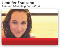Introducing Jennifer Francano, an inbound Marketing Consultant, who helps your business stay on track with its inbound marketing program and ensure your marketing efforts pay off on the bottom line. #InboundMarketing #MarketingStrategy