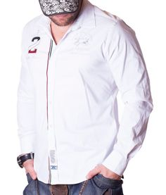 La Martina Maserati 2 Polo Team Shirt - White Color: white Lined collar and placket La Martina branded buttons La Martina logo embroidery on the left chest. Polo Team, Team 2, Team Shirts, Maserati, Shirt Style, Rain Jacket, Long Sleeve Shirts, Windbreaker, Online Outlet