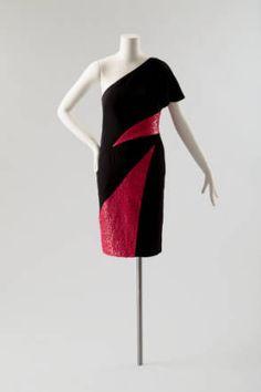 Evening dress, silk, Karl Lagerfeld designer for Chloe, French, 1982