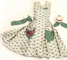 Gram's Apron - comes with vintage hanky in the pocket and a cinnamon bun recipe! - how cute!