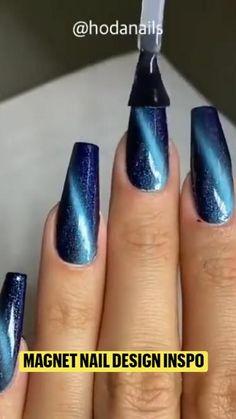 Sassy Nails, Long Acrylic Nails, Glitter Nail Art, Coffin Nails, Magnets, Easy Diy, Nail Designs, Nail Polish, Make Up