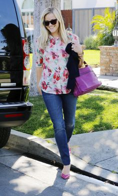 Reese Witherspoon - I'll take one of everything.  So easy and practical for me, the print keeps it fun and interesting, yes for fun accessories.