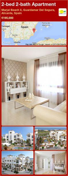 2-bed 2-bath Apartment for Sale in Marjal Beach Ii, Guardamar Del Segura, Alicante, Spain ►€195,000