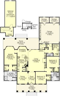 floorplan that includes side entry attached garage with laundry connector