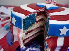 awesome captain america birthday cake!