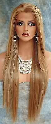 LONG-STRAIGHT-HEAT-SAFE-LACE-FRONT-WIG-FS8-27-613-STUNNING-ALLURING-US-SELL-268