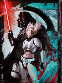 Darth Vader and ... a Stormtrooper.