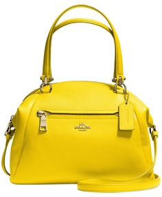 COACH PRAIRIE SATCHEL IN PEBBLE LEATHER - COACH - Handbags & Accessories - Macy's