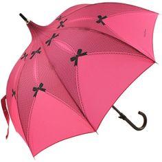 Riviera Fuchsia Lace Print Pagoda Umbrella by Chantal Thomass