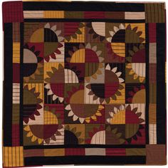 Is this a traditional quilt, a modern quilt, or both? Not sure--but it's gorgeous! From At Home with Country Quilts.