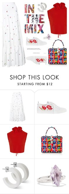 """""""- In the mix -"""" by bugatti-veyron ❤ liked on Polyvore featuring SUNO New York, SemSem, Dolce&Gabbana and Alexis Bittar"""
