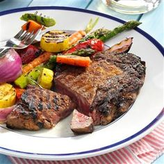 Caribbean Grilled Ribeyes Recipe -I made this mind-blowing steak with my father-in-law in mind. He loved it, and so did everyone else. You can serve it as part of all types of meals, but it's especially good alongside seafood. —De'Lawrence Reed, Durham, NC