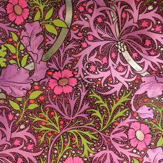 Flavor Paper Kabloom Wallpaper In Fruit Punch On Chrome Mylar Jo Harrington  C B Public Domain Patterns