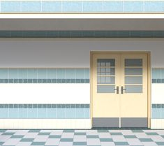 INT EAST PARK HIGH DOOR CLOSED DAY Episode interactive backgrounds Anime scenery Background