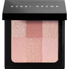 Bobbi Brown Women's brightening brick found on Polyvore featuring beauty products, makeup, cheek makeup, blush, beauty, cosmetics, fillers, bobbi brown cosmetics, blending brush and blender brush