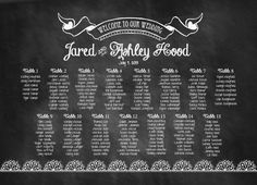 Custom Chalkboard Wedding Seating Chart by StationerybySoiree, $50.00