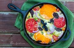 Bacon and Heirloom Tomato Frittata with Basil | Paleo Spirit