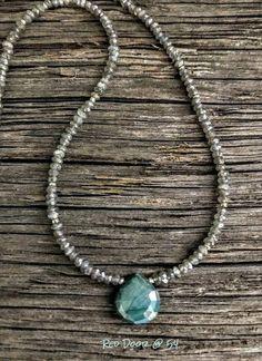 "Nacres Vert Turquoise BLACK FRESHWATER PEARL 48/"" Gros Perles Collier"