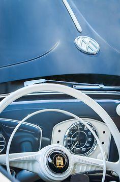 1951 Volkswagen Beetle Cabriolet Steering Wheel Emblem Hood Emblem