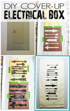 Easy diy solution to cover up electrical box! | diy beautify