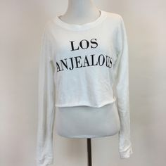 """F21 """"Los Anjealous"""" Cropped Crewneck Cropped Crewneck, no damages Forever 21 Sweaters Crew & Scoop Necks"""