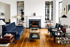 THomas Browne's velvet sofa via AD