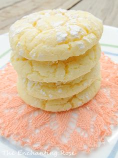 The Enchanting Rose: Chewy Lemon Cookies. . .Made From A Cake Mix