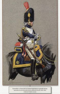 Military Art, Military Uniforms, French Army, Napoleonic Wars, Horse Art, Ancient Art, Old Things, Horses, Illustration