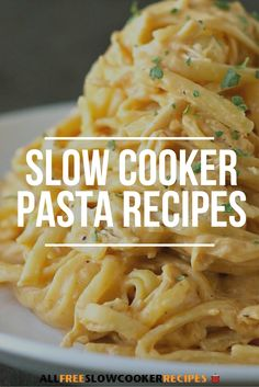 These slow cooker pasta recipes make for some of my favorite meals. They're easy dinner recipes that take very little time to prepare!