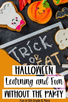This post gives so many great ideas for Halloween activities without having a party! Your upper elementary students will have fun with these Halloween activities that will have your students learning! Includes math, writing, reading, social studies, science Fun Halloween Activities, Activities To Do, Halloween Fun, Student Learning, Fun Learning, Math Writing, Science Art, Upper Elementary, Veterans Day