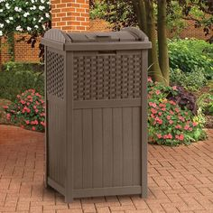 Walmart Outdoor Trash Cans 33 Gallon Trash Can  Trash Containers Lanai And Outdoor Spaces