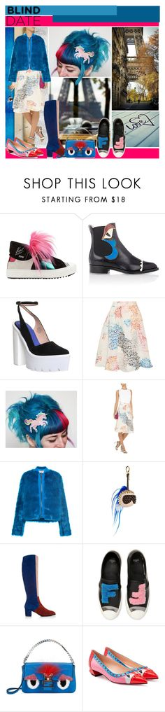 """""""What to Wear: Blind Date"""" by yours-styling-best-friend ❤ liked on Polyvore featuring Fendi, Jeffrey Campbell, Tanya Taylor, Giamba, Carmelinas, women's clothing, women, female, woman and misses"""