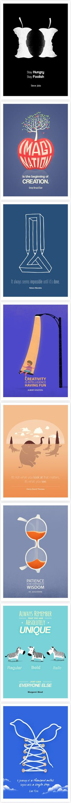 Famous Quotes are Paired with Clever Illustrations.... The one from Albert Einstein and Margaret Mead are my favourite for a classroom