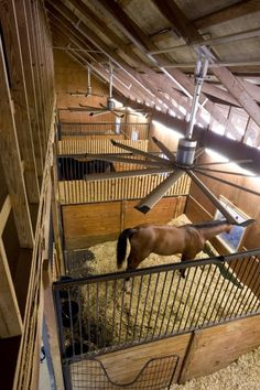 Why Horse Barns Need Big Fans. I highly recommend Big Ass Fans--they do fans for equestrian centers and even retailers like Ikea. Barn Stalls, Horse Stalls, Dream Stables, Dream Barn, My Horse, Horse Love, Future Farms, Into The West, Horse Ranch