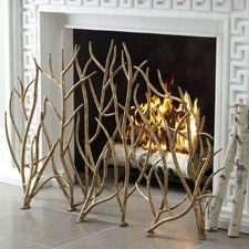 How gorgeous is this fireplace screen? Beautiful addition to a living room or hearth room