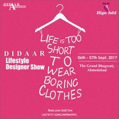 Ahmedabad is going to get a complete make over in fashion, homedecor, accesories etc. Watch out for more.. Didaar is coming to TGB on Sep 6th & 7th. #Didaarshop #LifestyleNDesignerShow #Ahmedabad #TGB #Events #Navratri #Fashion #Instalike #Instafollowers #AhmedabadRocks #AhmedabadEvents #Accessories #Jewellery #Clutches #Handbags #Kidswear #Homedecor
