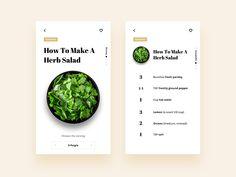 Daily Ui - Recipe App Concept