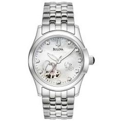 @Overstock - Never lose track of time with this incredible stainless steel automatic watch from Bulova. This water resistant watch features a mother of pearl dial with 10 diamonds.http://www.overstock.com/Jewelry-Watches/Bulova-Womens-BVA-Series-Automatic-White-Mother-Of-Pearl-Dial-Watch/5579708/product.html?CID=214117 $219.00