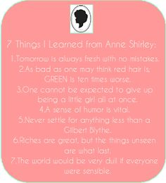 ...Creative Roots...: Anne's Lessons