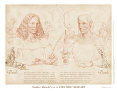 """""""Druids & Darachs"""" from the Teen Wolf Bestiary by Swann Smith. Art prints starting at US$20."""