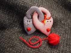 Броши текстильные. Котики