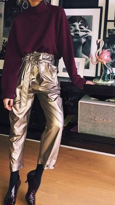 style-outfit-metallic pants-fashion-inspiration-ootd