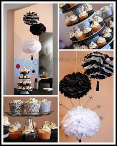 Black and White Party idea