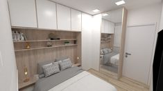Bedroom False Ceiling Design, Bedroom Bed Design, Bedroom Furniture Design, Home Room Design, Bedroom Decor, Bedroom Built In Wardrobe, Small Master Bedroom, Bedroom Wardrobe, Ideas Armario