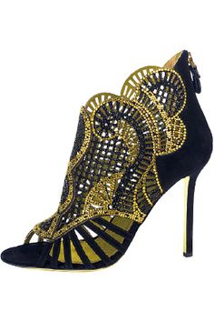 Black and Gold of House Baratheon Sergio Rossi, Dream Shoes, Crazy Shoes, Me Too Shoes, Jimmy Choo, Bootie Boots, Shoe Boots, Women's Shoes, Christian Louboutin
