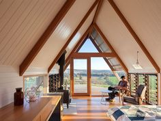 Amazing views and a cosy fire inside Kimo Hut designed by Anthony Hunt Design and Luke Stanley Architects. A Frame Tent, A Frame Cabin, A Frame House, Cabin Design, House Design, Agricultural Buildings, Cabin In The Woods, Tiny House Plans, Glamping