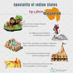 Top 5 destinations you must visit while in ‪#‎Gujarat‬ ‪#‎GroupOuting‬ ‪#‎GoGroupOuting‬