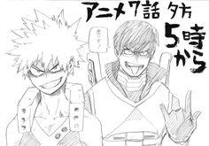 Boku no Hero Academia || Katsuki Bakugou, Tenya Iida.